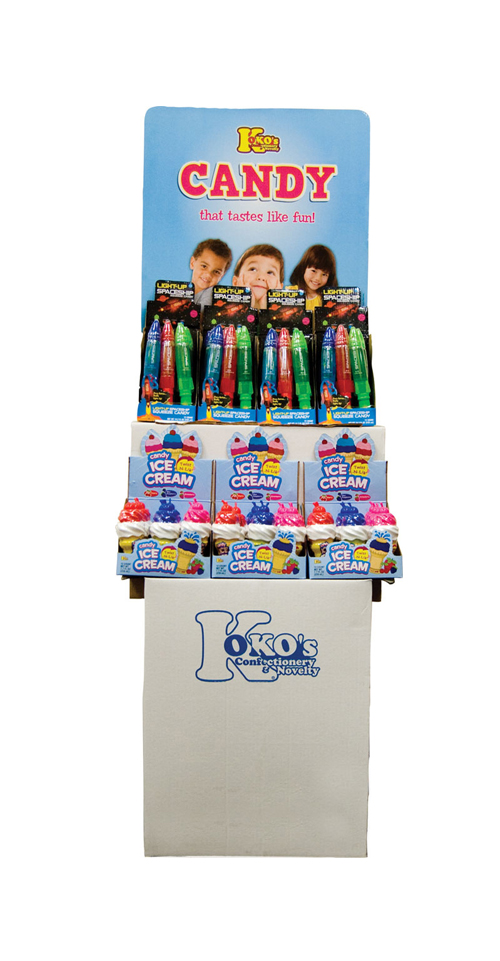 Retail Candy > Everyday Candy > light up spaceship squeeze candy and ice cream candy twist and lik shipper