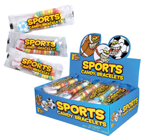 Retail Candy > Everyday Candy > Sports Candy Bracelets