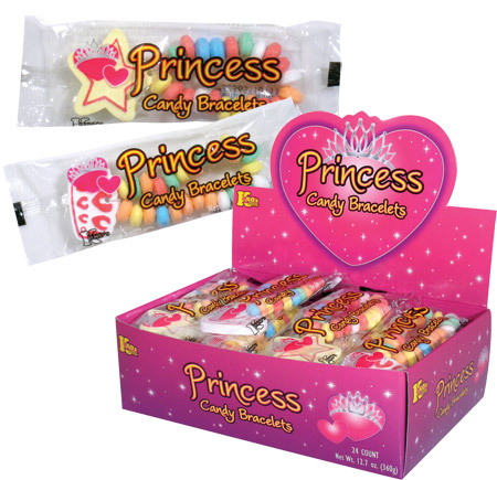 Retail Candy > Everyday Candy > 10106 Princess Candy Bracelets