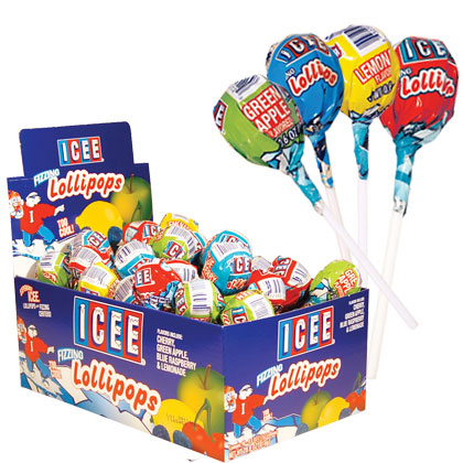 Retail Candy > Everyday Candy > 12212 ICEE Fizzing Lollipops