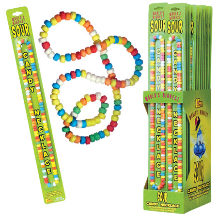 Retail Candy > Everyday Candy > 38600 World's Biggest Sour Candy Necklace