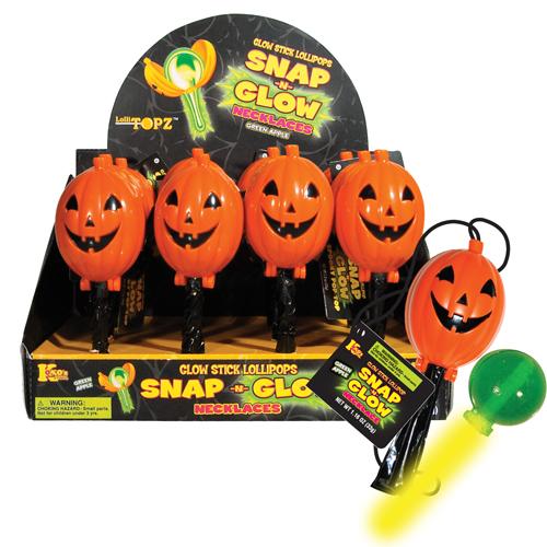 Koko Halloween : Retail Candy > Halloween Candy > 40101 Halloween SnapNGlow Lollitopz