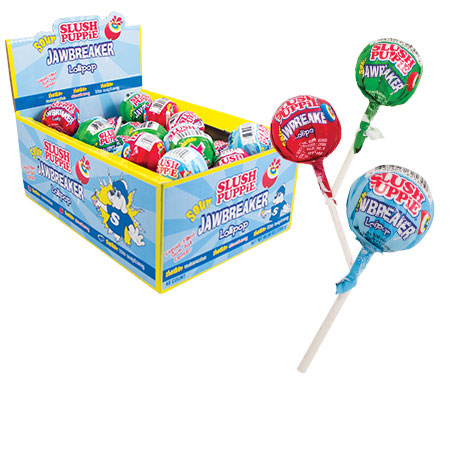 Retail Candy > Everyday Candy > Slush Puppie Jawbreaker Lollipop