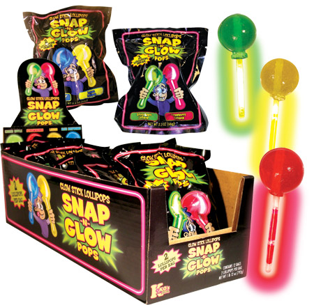Retail Candy > Everyday Candy > 74602 Snap-N-Glow Pops 2 Pack