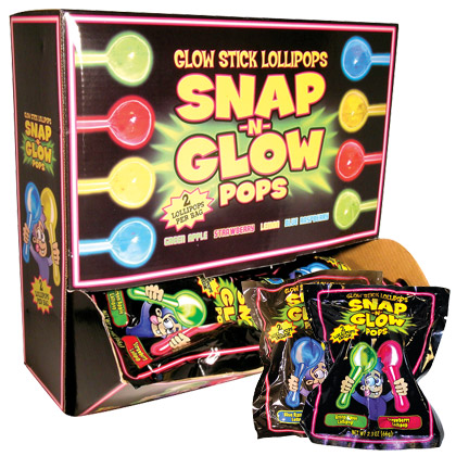 Retail Candy > Everyday Candy > 74604 Snap-N-Glow Dual Pops Gravity Feed