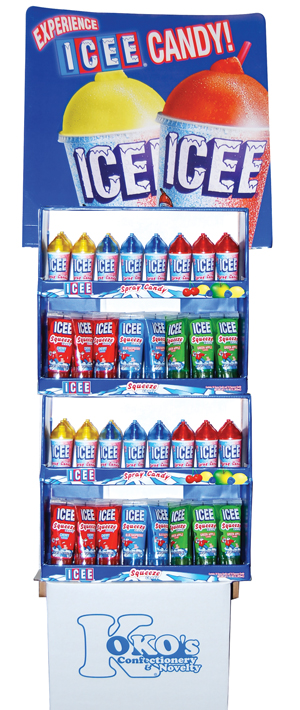 Retail Candy > Everyday Candy > 75004 ICEE Squeeze & Spray Candy Shipper Display Box