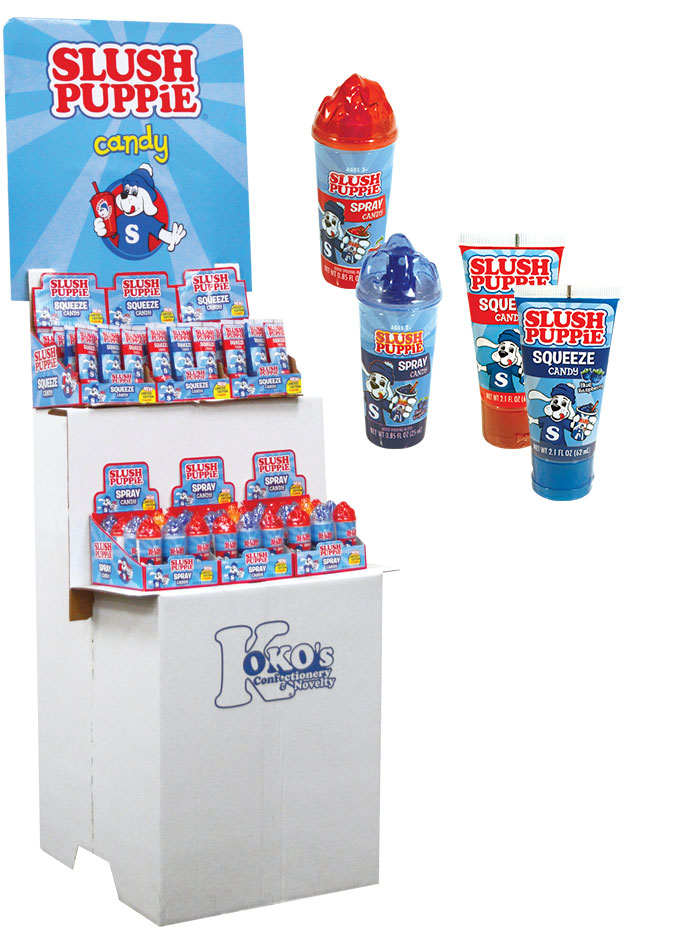 Retail Candy > Everyday Candy > Slush Puppie® Fruity Tubes Candy Shipper