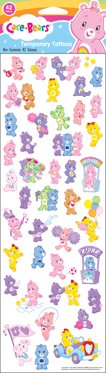 Retail Tattoos > 4x12 Tattoos > FT12041 Care Bears 4x12 Tattoo Sheet