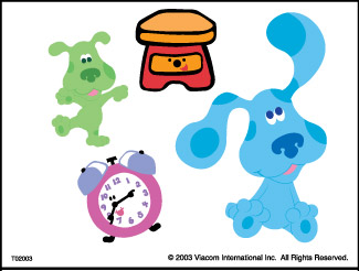 Retail Tattoos > Novelty Tattoos > F02003 Blue's Clues Novelty Tattoo Sheet