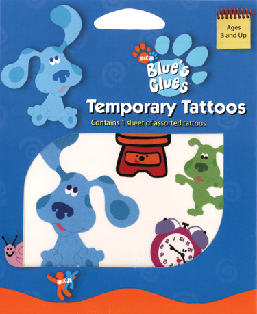 Retail Tattoos > Novelty Tattoos > F02003 Blue's Clues Novelty Tattoos