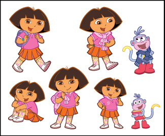 ... Tattoos > Novelty Tattoos > F03001 Dora the Explorer Novelty Tattoo