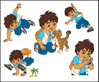 Retail Tattoos > Novelty Tattoos > F04201 Go, Diego, Go! Novelty Tattoo Sheet