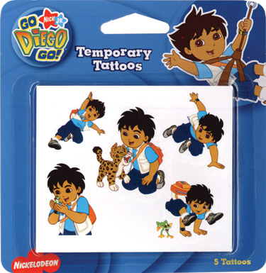 Retail Tattoos > Novelty Tattoos > F04201 Go, Diego, Go! Novelty Tattoos