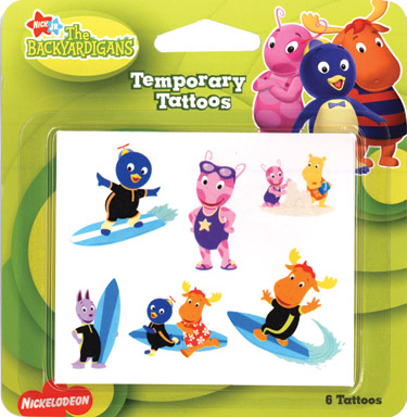 Retail Tattoos > Novelty Tattoos > F05201 The Backyardigans Novelty Tattoos