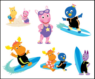 Retail Tattoos > Novelty Tattoos > F05201 The Backyardigans Novelty Tattoo Sheet
