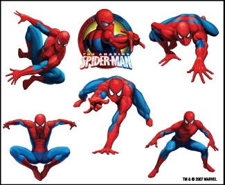 Retail Tattoos > Novelty Tattoos > F48001 Spider-Man Novelty Tattoo Sheet