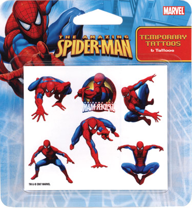 Retail Tattoos > Novelty Tattoos > F48001 Spider-Man Novelty Tattoos