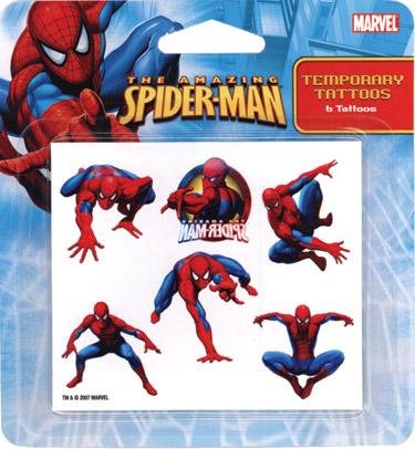 Retail Tattoos > Novelty Tattoos > F48001 Spider-Man Novelty Tattoos