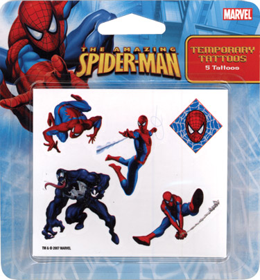 Retail Tattoos > Novelty Tattoos > F48002 Spider-Man Novelty Tattoos