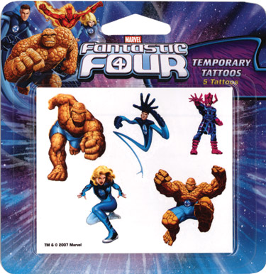 Retail Tattoos > Novelty Tattoos > F48101 Fantastic Four Novelty Tattoos