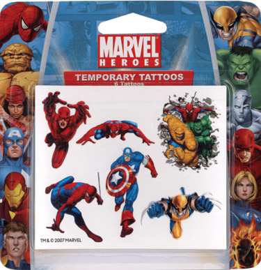 Retail Tattoos > Novelty Tattoos > F48201 Marvel Heroes Novelty Tattoos