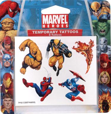 Retail Tattoos > Novelty Tattoos > F48202 Marvel Heroes Novelty Tattoos