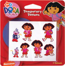 Retail Products > Retail Temporary Tattoos > Novelty Temporary Tattoo Packs > F03001 Dora The Explorer Temporary Tattoos Novelty Pack