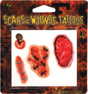 Retail Products > Retail Temporary Tattoos > Novelty Temporary Tattoo Packs > F10064 Scars & Wounds Temporary Tattoos Novelty Pack