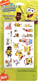 Retail Products > Retail Temporary Tattoos > Temporary Tattoo Party Packs > F01108 SpongeBob SquarePants Temporary Tattoos Party Pack