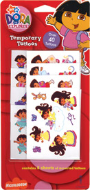 Retail Products > Retail Temporary Tattoos > Temporary Tattoo Party Packs > F03108 Dora The Explorer Temporary Tattoos Party Pack