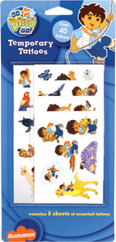Retail Products > Retail Temporary Tattoos > Temporary Tattoo Party Packs > F04205 Go, Diego, Go! Temporary Tattoos Party Pack