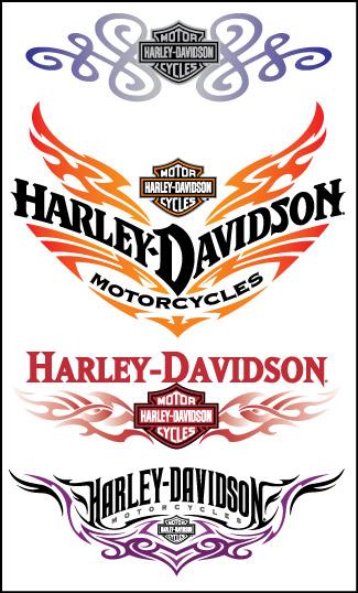 Retail Tattoos > Trend Tattoos > F46027 Harley-Davidson Lowerback Trend